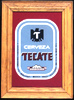 Cerveza Tecate Oak Framed Classic Bar Mirror