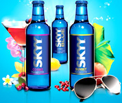 Skyy Blue Vodka Drink Bar Mirror