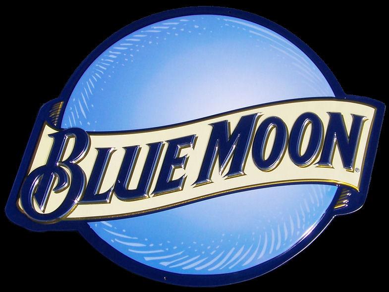 Blue Moon NEW Die Cut Tin Sign