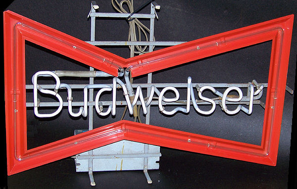 Budweiser Bow Tie Used Vintage Neon Sign