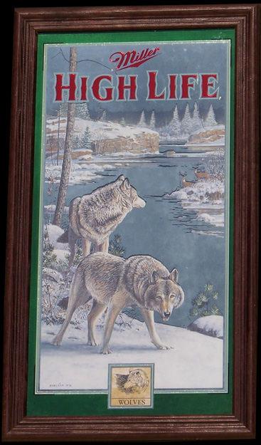 Miller High Life Wolves Series 4 Wildlife Mirror
