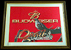Budweiser Quail Unlimited Wildlife Mirror