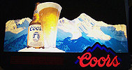Coors Rocky Mountain 3D Illuminated Sign