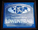 This World Calls For Lowenbrau Vintage Smoked Glass Bar Mirror