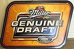 Miller Genuine Draft Black Label Tin Sign