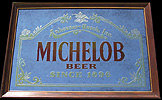 Michelob Beer Since 1896 Smoked Glass Vintage Bar Mirror