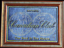 Canadian Club Whiskey - The Best in the House - Vintage Smoked Glass Bar Mirror