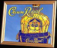 Crown Royal Whiskey Simulated Stained Glass Large Bar Mirror