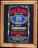 Jack Daniel's Old Number 7 Tennessee Sour Mash Whiskey Vintage Reflective Glass Plaque Bar Mirror