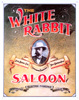 Jack Daniel's White Rabbit Saloon Tin Sign