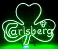 Carlsberg Beer Irish Shamrock Neon Sign