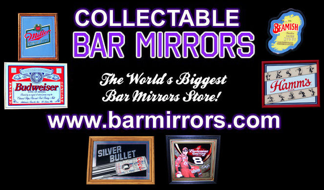 Collectable bar mirrors worlds biggest bar mirror store beer collectable bar mirrors aloadofball Image collections