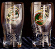 Set of 4 Smithwick's Ale 20 Ounce English Pint Bar Glasses with logos on 2 sides