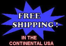 Free Shipping in the continental USA!
