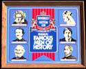 Boodles British Gin Famous Men of History Vintage Bar Mirror