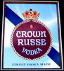 Crown Russe Vodka Vintage Bar Mirror