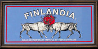 Finlandia Vodka of Finland Vintage Reindeer Logo Bar Mirror