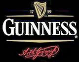 Guinness Harp Logo Bar Back Mirror