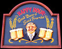 Happy Hour - Good Beers and Good Friends 3D Wood Sign