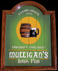 Mulligan's Irish Pub 3D Wood Sign