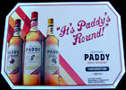 Paddy Irish Whiskey NEW Tin Sign