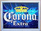 Corona Extra Can Mirror Reflective Glass Plaque