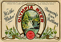 Olympia Beer New Tin Sign