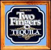Two Fingers Tequila Oak Framed Bar Mirror