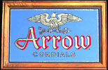 1983 Arrow Cordials Liquor Vintage Bar Mirror