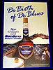 DeKuyper Bluesberry Blueberry Schnapps 'De Birth of De Blues' Bar Mirror