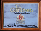 Glenlivet - The Father of All Scotch -Vintage Smoked Glass Bar Mirror