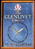 The Glenlivet 12 Year Old Single Malt Scotch Mirrored & Framed Bar Clock