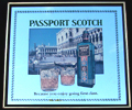 Passport Scotch Whisky Canals of Venice Vintage Bar Mirror