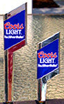 Set of 2 Coors Light Silver Bullet Tap Handles