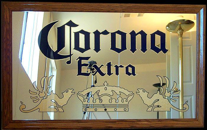 bar mirrors corona dominator oak framed bar back mirror