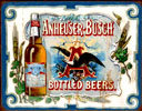 Anheuser Busch Bottled Beers Tin Sign