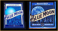 Blue Moon Belgian White Ale NEW Bar Mirror and Blue Moon Tin Sign Combo Set