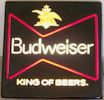 Budweiser Illuminated King of Beers Vintage Illuminated Sign