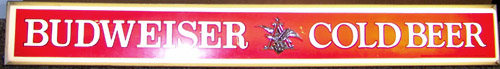 Budweiser Cold Beer Vintage Illuminated Sign