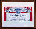 Budweiser Logo Small Bar Mirror
