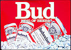 Budweiser King of Beers Large Tin Sign