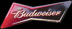 Budweiser Bow Tie Tin Sign