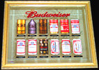 Budweiser Historic Beer Cans 2005 Beveled Glass Mirror
