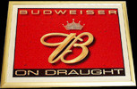 Budweiser On Draught Beveled Glass Mirror