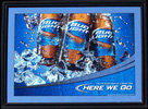 Bud Light Here We Go Used Bar Mirror