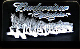 Budweiser Clydesdales LARGE NEW Edge Lit Bar Sign