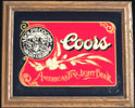 Coors America's Fine Light Beer Reflective Glass Plaque