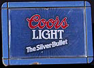 Coors Light Silver Bullet Vintage Starburst Illuminated Motion Sign