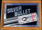 Coors Light Silver Bullet Oak Framed 1986 Bar Mirror