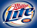 Miller Lite Beer Hurricane Logo Tin Sign